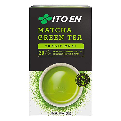 Ito En Traditional Matcha Green Tea, Traditional, 20 Count (Pack of 6)