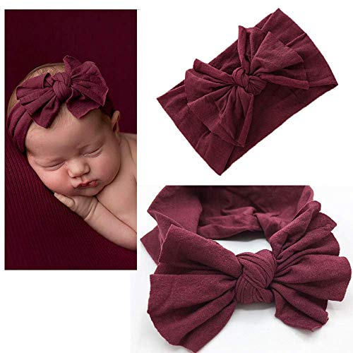 DRESHOW Baby Girl Nylon Headbands Newborn Infant Toddler Hairbands and Bows Child Hair Accessories, Zm14-5pcs, One Size