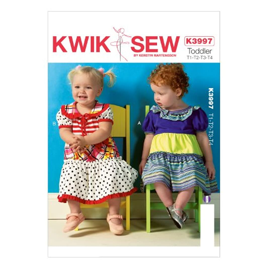 KWIK-SEW PATTERNS K3997OSZ Toddlers' Dresses and Panties Sewing Template