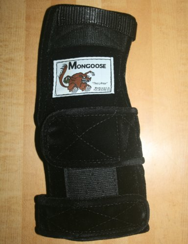 """Mongoose """"Lifter Bowling Wrist Support Right Hand,Large,Black"""