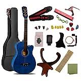 ギター 初心者 入門 アコースティック クラシックギター チューナーピックセット16点セット ブルー
