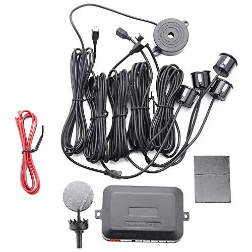 Fransande - Sensor de aparcamiento de coche con 4 sensores Parktronic de 22 mm con timbre de repuesto