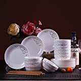 <span class='highlight'><span class='highlight'>GYC</span></span> Ceramic Rice Bowl Dish Combination Cutlery Household Microwaveable Dishes 10 Household Dishes Set (Color : B)