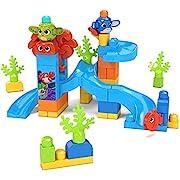 Mega Bloks GNW64 - Mega Bloks Guck-Guck Unterwasserabenteuer, Bauset mit 42 robusten Bausteinen, Spielzeug ab 1 Jahren