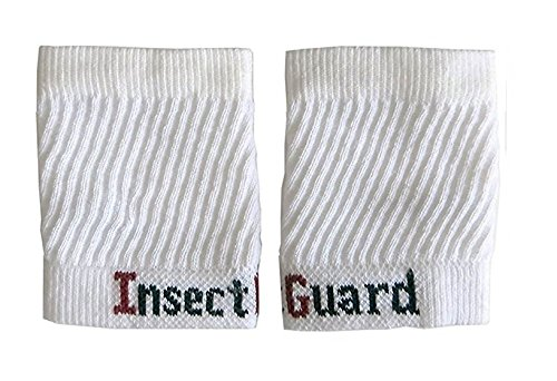 "InsectGuard - Permethrin Treated Tick & Mosquitoes Insect Repellent 4"" Long Pair of Sleeves/Gaiters (White) One Size Fits All Up to Adult Large"