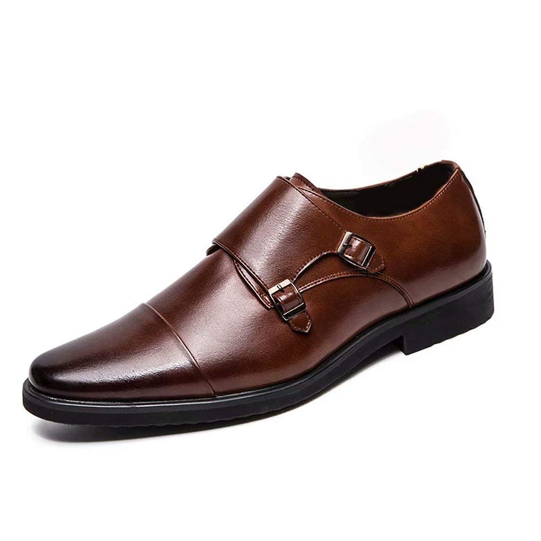 [aemax] モンクストラップ ビジネスシューズ メンズシューズ 革靴 メンズ 紳士靴 カジュアルシューズ オールシーズン 軽量 柔らかい 就活 通勤