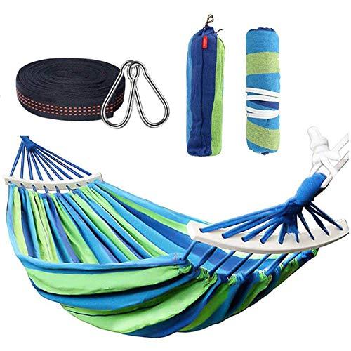 Nbvcxz Double Hammock, Outdoor Hammock for Garden, capacity 500 kg, Bag for Garden Courtyard Beach Backpacking Hiking, 290 x 150 cm