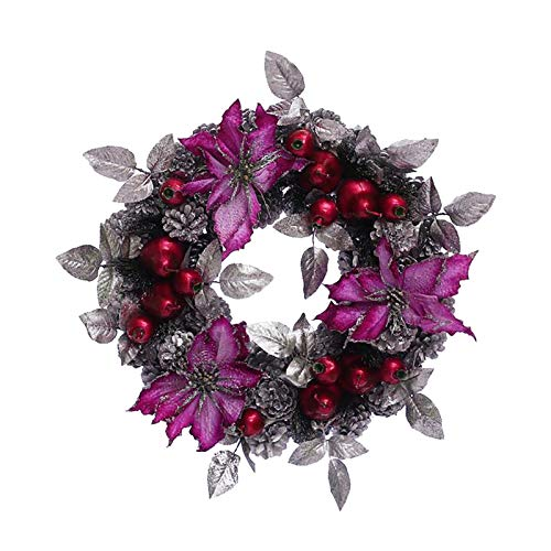 jieGorge Wreath Ornament for Christmas/Thanksgiving Day Wreath Door Hanging Home Decor, Home Decor, for Christmas Day (E)