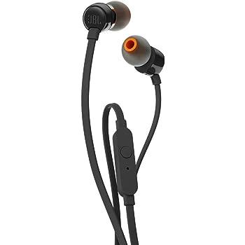 JBL T110 – Ecouteurs intra-auriculaires filaires – Son Pure Bass de JBL et bouton de contrôle – Connectivité : câble Jack 3,5 mm – Couleur : Noir
