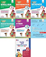 Olympiad Champs Science, Mathematics, English, Logical Reasoning, Cyber & GK Class 3 with 28 Mock Tests (Set of 7 Books)