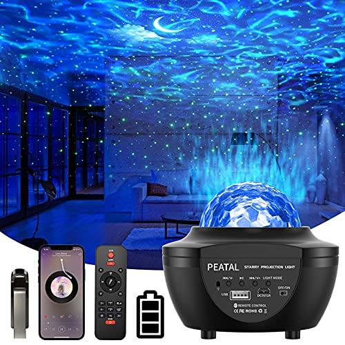 LED Sternenhimmel Projektor Galaxy Light mit Batterie Bluetooth Musikplayer Sternenlicht Projektor Nachtlicht Sternenhimmel für Erwachsene Kinderzimmer Party Weihnachten Zimmer Dekoration
