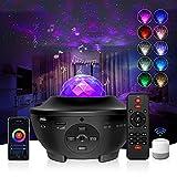 G-TASTE LED Sternenprojektor Nachtlicht mit WiFi Mode,Sternenhimmel Projektor mit Fernbedienung Kinder Nachtlicht mit Musikspieler und Bluetooth&Timer,für Geburtstagsfeier Hochzeit Schlafzimmer