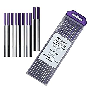 "Zinger TIG Welding Tungsten Electrodes Rare Earth Blend 3/32"" x 7"" 10-Pack Purple from Zinger Electronics"