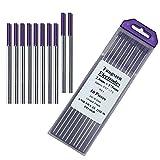 "Zinger TIG Welding Tungsten Electrodes Rare Earth Blend 3/32"" x 7"" 10-Pack Purple"