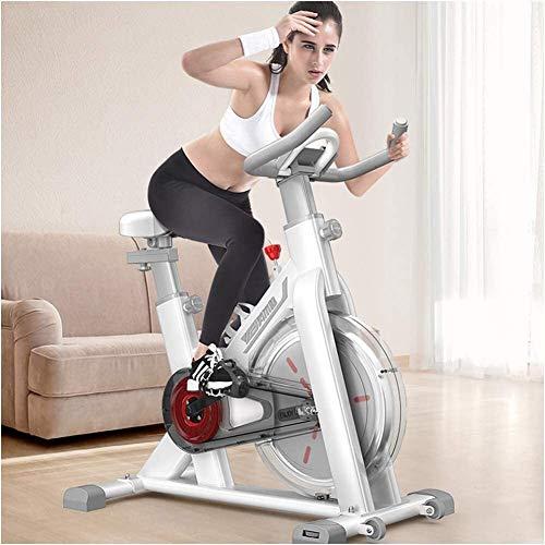 YZPJSQ Bicicleta estacionaria/Cubierta Ciclo de la Bici con Soporte for iPad/Bicicleta de Ejercicio Vertical/silencioso de transmisión del cinturón Bicicleta Ciclo Indoor/Salud y Bienestar/entrenam