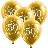 10 Latexballons Goldene Hochzeit Zahl 50 Gold 30cm Durchmesser