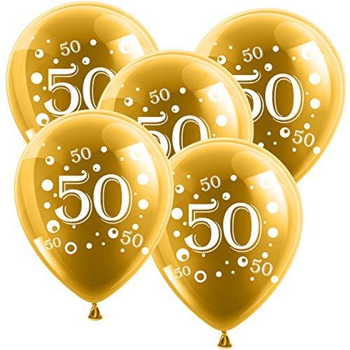 ballon boutique Villingen 10 Latexballons Goldene Hochzeit Zahl 50 Gold 30cm Durchmesser