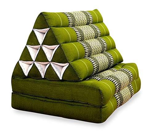livasia Thaikissen der Marke Asia Wohnstudio, Kapok Dreieckskissen, asiatisches Sitzkissen, Liegematte, Thaimatte (Thaikissen 2 Auflagen)
