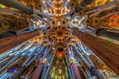Rompecabezas para adultos España Sagrada Familia Barcelona Puzzle 1000 piezas Recuerdo de viaje de madera