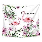 ganpingchenkai Tapiz Colgante de Pared Flamingo Hojas de Palma y decoración de Plantas Apartamento Decoración del hogar Sala de Estar Colcha Decoración de Dormitorio 150 * 130Cm 7