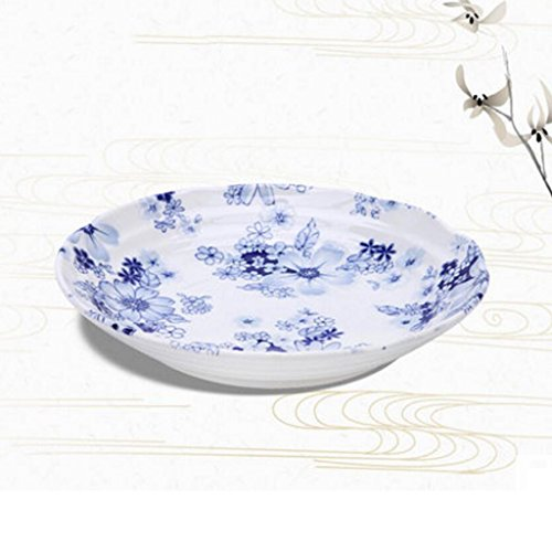 Liuyu Kitchen Home Vaisselle Soup Bowl Face Bowl Grande Soupe À Domiculaire Bassin Bol De Riz Dessert Bowl Céramique Diamètre 21.7cm