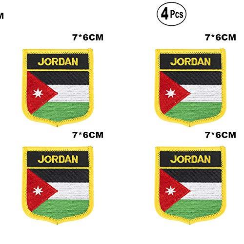 Jordan Shiled Shape vlag patches nationale vlag patches voor Cothing DIY Decoratie