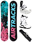 Airtracks Damen Snowboard Set - Board Polygonal 148 - Softbindung Master - Softboots Strong W QL 41 - SB Bag