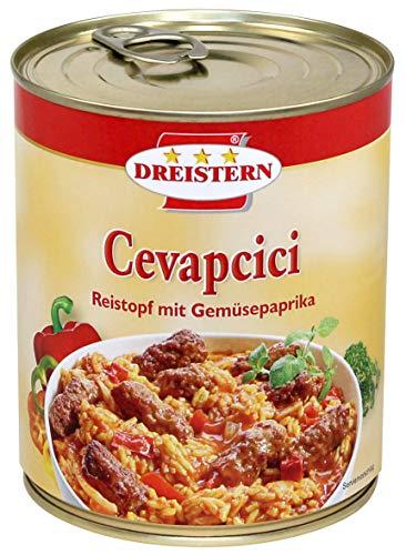 Dreistern Cevapcici Reistopf mit Gemüsepaprika 800g Ringpull-Dose