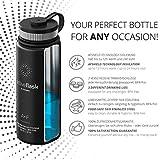 Trinkflasche Edelstahl ACTIVE FLASK + Strohhalm (3 Deckel) BPA-frei, Auslaufsicher, Kohlensäure geeignet - Wasserflasche Fahrrad Thermosflasche Isoliert Isolierflasche Sport Wasser Flasche Kinder Tee - 2