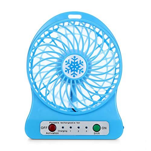 Lsdnlx Ventilador,Mini Ventilador portátil Ventilador Recargable USB MiniVentilador deEscritorioEnfriador de Aire Enfriador de Aire Recargable Ventilador de enfriamiento