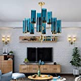 Immagine 2 helin blue glass tubolare lampadario