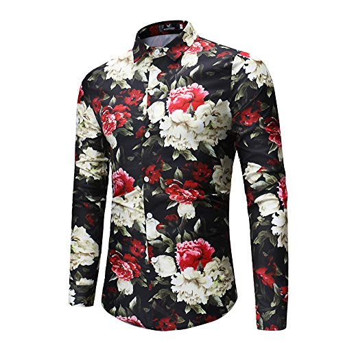 FRAUIT hemd heren mannen modieus comfortabel wondermooie bloemenprint herfst winter hemden slim fit tops shirts top blouse vrije tijd party S-XXXL Oktoberfest