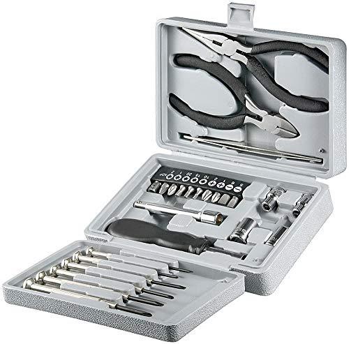 InLine 43012 Heim und Hobby Werkzeugset, 25-teilig, mit Kunststoff Etui