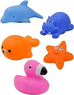 TOYANDONA 5pcs Baby Bath Toy Animal Bath Toys Bathtub Toys Floating Toys for Toddlers Kids