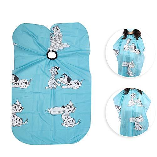 43.3 x 31.5 in kappersschort Haarknipsel Verven Verstelbare jurk Cape voor kinderen Baby, professionele non-stick kapperskleding Blauw