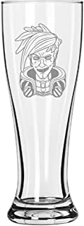 Bandit Cult Leader King Parasite Text Game Parody - 15 oz Pilsner Beer Glass (King)