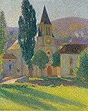 Kit de Pintura de Diamantes 5D,Diy 5d diamond paintingdecoración del hogar para Salones o dormitorios,Henri Martin-Iglesia en el sol