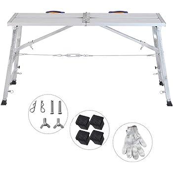 Aleación de Aluminio Multifuncional andamio de elevación Plegable Escalera portátil Escalera de Plataforma doméstica (Tamaño : L-150CM): Amazon.es: Hogar