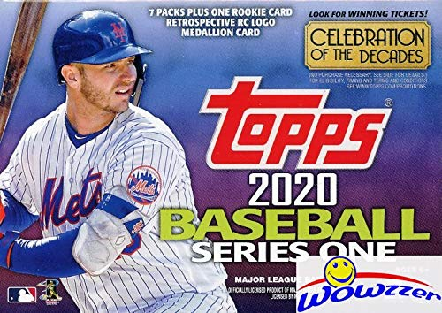 2020 Topps Series 1 MLB Baseball EXCLUSIVE Factory Sealed Retail Box with 98 Cards & SPECIAL Rookie Retrospective Logo Medallion RELIC! Loaded with Rookies & Inserts! Look for Autos & Relics! WOWZZER