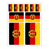 Generisch 10 Stück Flaggen Aufkleber DDR Set | Sticker Autoaufkleber
