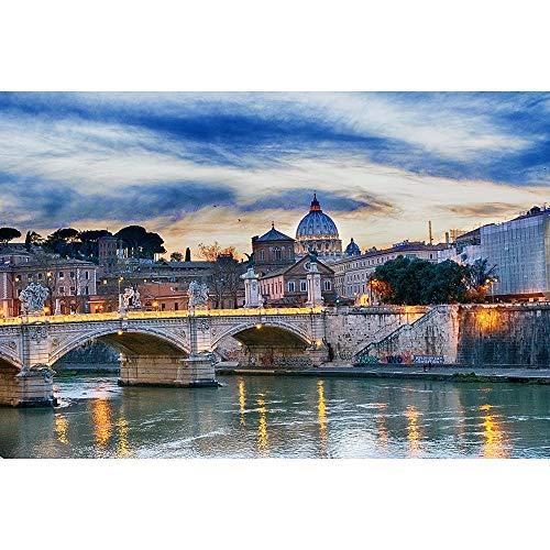s Rompecabezas De Madera, Roma Sunset Tiber, Juegos Creativos Juguetes Decoración del Hogar, 500/1000/1500/2000/3000/4000/5000/6000 Piezas 0113 (Size : 6000 Pieces)