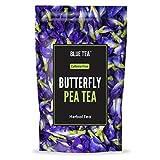 BLUE TEA - Bio-Schmetterlingserbsenblüte - 60 g (200 Tassen)   Macht natürlichen blauen lila lila rosa Eistee, Kühler, Cocktails, Mocktails   Koffeinfreier Kräutertee - Für die Gesundheit der Haut