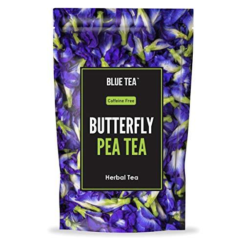 BLUE TEA - Bio-Schmetterlingserbsenblüte - 60 g (200 Tassen) | Macht natürlichen blauen lila lila rosa Eistee, Kühler, Cocktails, Mocktails | Koffeinfreier Kräutertee - Für die Gesundheit der Haut