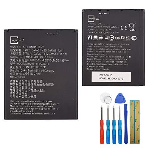 E-yiiviil Li3822T43p4h736040 - Batería de repuesto para ZTE Tempo X/Tempo Go N9137 (2250 mAh, con herramientas)