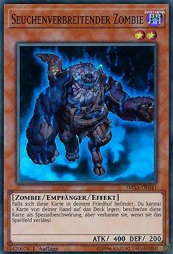Seuchenverbreitender Zombie - DASA-DE041 - Yu-Gi-Oh - deutsch - 1. Auflage - NIFAERA Spielwaren