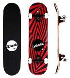 GALACTIC Skateboard Completo, Skateboard Double Kick Trick, con Trucks in Lega di Alluminio e Ruote 52mm / 95A, con Cuscinetti ABEC-9, per Principianti e Giovani Adulti confermato