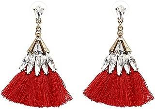 Faddish Cotton Tassel Earrings Women Statement Dangle Drops Earrings for Women Fringing Earrings Jewelry
