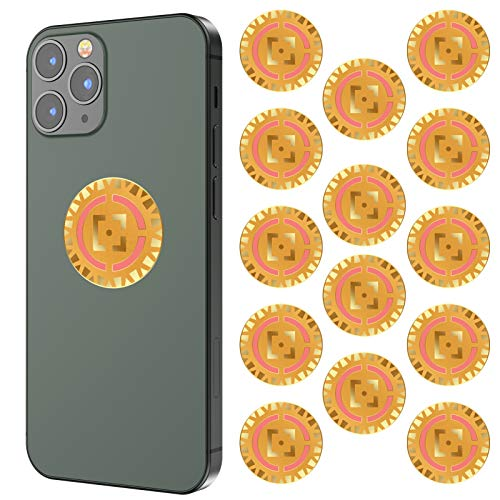 14PCs Anti Radiation EMF Protection Cell Phone Sticker, 5G Phone Sticker Blocker Shield Neutralizer, Anti 99% EMF from All Electronic Devices Laptop, Mobile, Computer, Tablets, WiFi. for Families