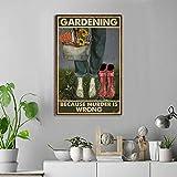 SIGNCHAT Cartel de metal con ilustración floral botánica de jardín porque el asesinato es erróneo para jardín, 20 x 30 cm