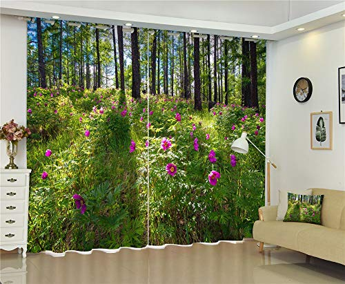 MAOYYM2 groene luxe verduistering 3D-venster gordijnen voor woonkamer Office slaapkamer H85 X W81Inch Groen
